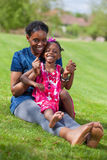African mother with her daughter Stock Photos