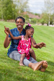 African mother with her daughter Royalty Free Stock Photography