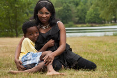 African mother and son Stock Images