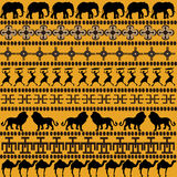 African motifs with African animals Stock Photos
