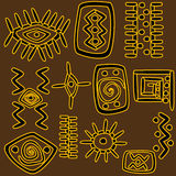 African motifs background Stock Photos