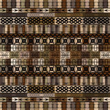 African motifs in brown tones Stock Photo