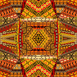African motifs collage made of textile patchworks Stock Images