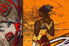 African motive ethnic retro vintage Stock Image