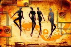 African motive ethnic retro vintage Stock Images