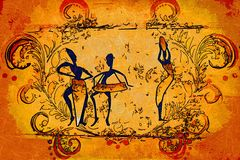 African motive ethnic retro vintage Royalty Free Stock Images