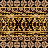 African motives. Ethnic pattern with african symbols & ornaments Stock Images