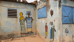 African Murals Stock Photography