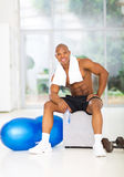 African muscular man gym Stock Images