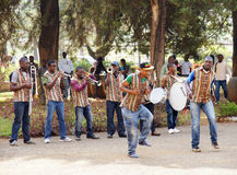 African music band and dancers Royalty Free Stock Image