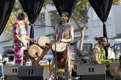 African music group performing at Ecoaltea. royalty free stock photo
