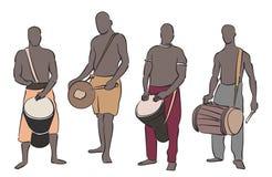 African musician set Royalty Free Stock Photos
