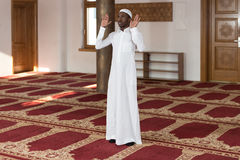 African Muslim Man Is Praying In The Mosque Royalty Free Stock Photos