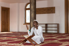 African Muslim Man Is Praying In The Mosque Royalty Free Stock Photo