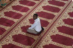 African Muslim Man Is Praying In The Mosque Stock Photography