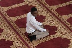 African Muslim Praying In Mosque Royalty Free Stock Photos