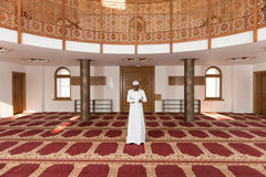 African Muslim Praying In Mosque Royalty Free Stock Photography