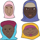 African Muslim Women Royalty Free Stock Image