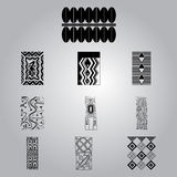 African national ornaments set Royalty Free Stock Images