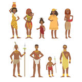 African National Tribal Outfit Collection Royalty Free Stock Photography