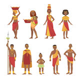 African National Tribal Outfit Collection Stock Photography