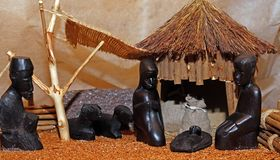 African Nativity scene with Holy Family Stock Images
