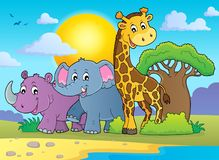 African nature theme image 2. Eps10 vector illustration royalty free illustration