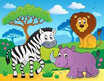 African nature theme image 4. Eps10 vector illustration vector illustration