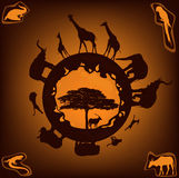 African nature vector Royalty Free Stock Photos
