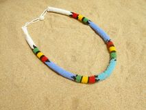 African necklace Royalty Free Stock Image