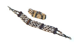 African necklace and bracelet Stock Photos