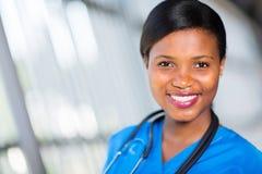 African nurse close up Stock Photo