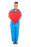 African nurse heart Stock Photography