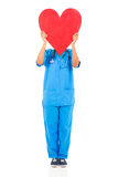 African nurse heart Royalty Free Stock Image