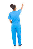 African nurse pointing Stock Image