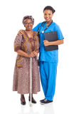 African nurse senior patient Stock Photography