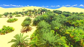 African oasis on Sahara Royalty Free Stock Photos