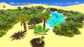 African oasis on Sahara Stock Photo