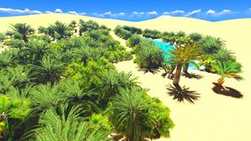 African oasis on Sahara Royalty Free Stock Photo