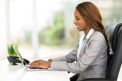 African office worker Stock Images