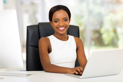 African office worker Royalty Free Stock Photo