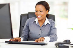 African office worker Royalty Free Stock Image