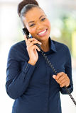 African office worker telephone Royalty Free Stock Photo