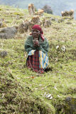 African old woman - Rwanda Royalty Free Stock Images