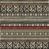 African ornament. Geometrical ornament in traditiohal african style Stock Photography