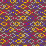 African Ornaments Seamless Pattern Stock Photography
