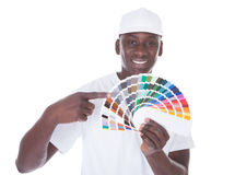 African Painter With Color Swatch Royalty Free Stock Photography