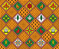 African pattern. Vector carpet including ethnic African motive with multicolored typical elements Royalty Free Stock Photos
