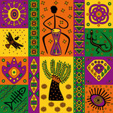 African pattern. Figure in the African style for the design or background Stock Photos