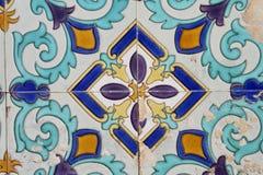 African pattern. Ceramin tile in Tanzania royalty free stock photo